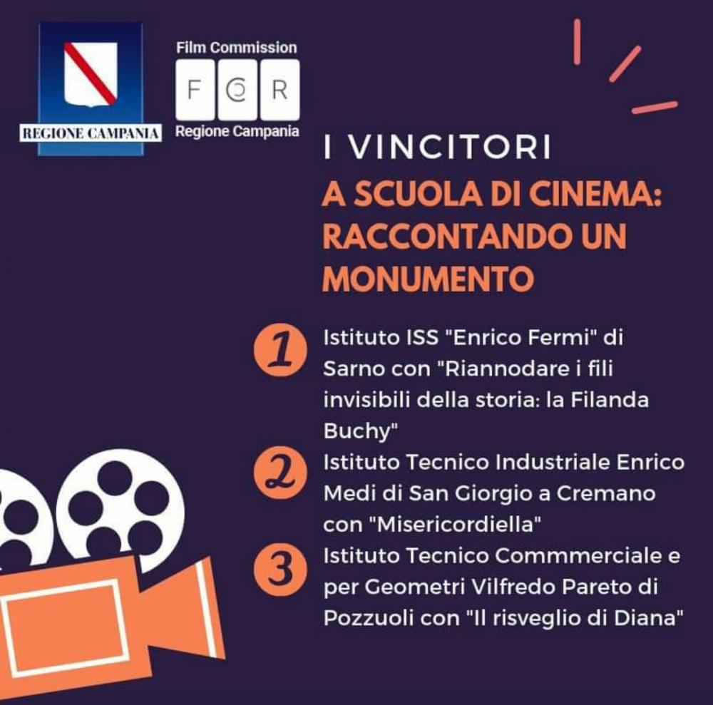 Calendario Regionale Campania Scuola.Regione Campania Concorso A Scuola Di Cinema Raccontando